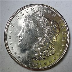 1921-D MORGAN DOLLAR SUPERB GEM BU EST. $150.00--$175.00