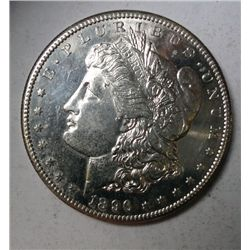 1896 MORGAN DOLLAR CHOICE BU, PL, VERY NICE, RARE! EST. $1600.00-$1700.00