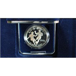 1994 WORLD CUP SOCCER COMMEMORATIVE PROOF SILVER DOLLAR