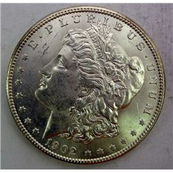 1902-O MORGAN DOLLAR GEM BU VERY NICE