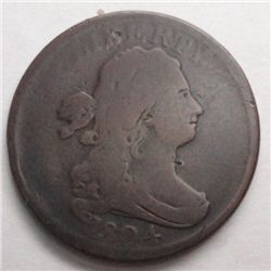 1804 half cent  nice color overall F/VF UNATTRIBUTED