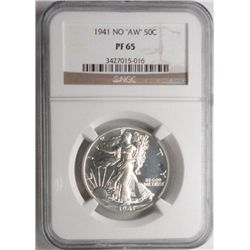 1941 no AW proof Walker  NGC PF65