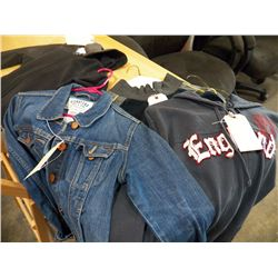 Child's Sweat Jacket size 5-6 with Hoodie with Levi jacket Ladies size M ,  England Sweat jacket Szi
