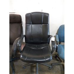 Large Black Leather Office Chair