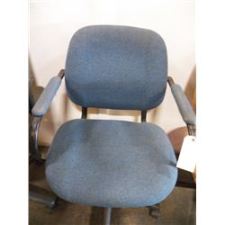 Medium Size Armed Office Chair Blue