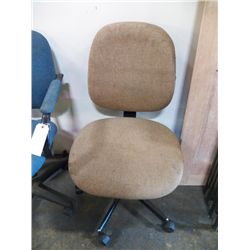 Medium Size Brown Office Chair  No Arms