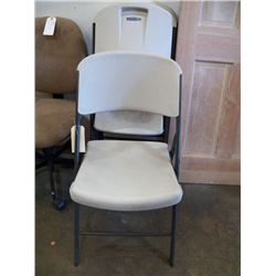 4- Folding Chairs White