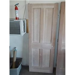 2/6 x 6/8 4-Panel Solid Core Pocket Door