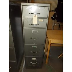 5 drawer metal file cabinet 2- small drawers  made in Grand Rapids,  Michigan