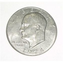 "1974 Eisenhower ""IKE"" Dollar *PLEASE LOOK AT PICTURE TO DETERMINE GRADE*!!"