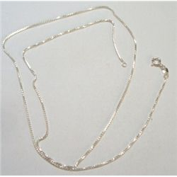 "24"" STERLING SILVER BOX CHAIN *STAMPED .925 STERLING SILVER - CHAIN WEIGHS 4.37 GRAMS*!!"
