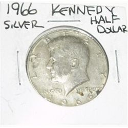 1966 KENNEDY SILVER HALF DOLLAR *PLEASE LOOK AT PICTURE TO DETERMINE GRADE*!!