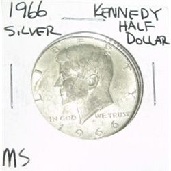 1966 KENNEDY SILVER HALF DOLLAR *RARE MS HIGH GRADE*!!