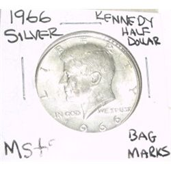 1966 KENNEDY SILVER HALF DOLLAR *EXTREMELY RARE MS-65 HIGH GRADE*!!