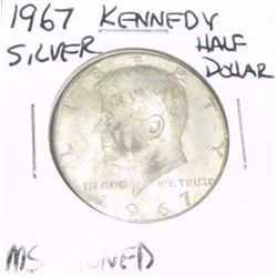 1967 KENNEDY SILVER HALF DOLLAR *EXTREMELY RARE MS TONED HIGH GRADE*!!