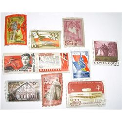 Lot of 10 Total RUSSIAN U.S.S.R Vinatage Stamps *EXTREMELY RARE ALL UNUSED*!!