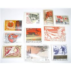 Lot of 10 Total RUSSIAN C.C.C.P. Vinatage Stamps *EXTREMELY RARE - HARD TO FIND STAMPS*!!