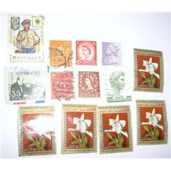Lot of 13 Total WORLD Vinatage Stamps *EXTREMELY RARE - HARD TO FIND STAMPS SOME ARE HONDURAS*!!