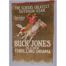 1930s Buck Jones BannerOriginal  felt banner ,1930s Banner used to  advertise movies for Columbia Pi