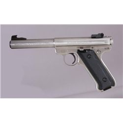 Ruger Mdl MKII Cal .22LR SN:214-30870Single action semi auto target pistol  chambered in .22 LR. Sta