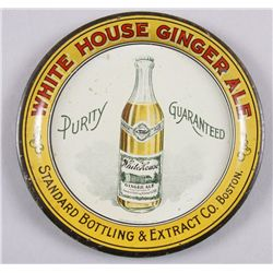 "Original Tin Advertiser - White House Ginger Ale5"" round, bright colors. In overall very good  condi"