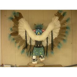 Large Eagle KachinaSigned Darlene Juan on bottom, contemporary  type, in overall good condition, mea