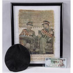 Desert Storm Republican Guard ItemsIncludes a beret, Saddam money, and a  picture.