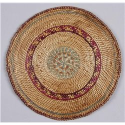 "Nootka Northwest Coast Basketry TrayMeasures 7 1/4"" diameter, in overall good  condition."