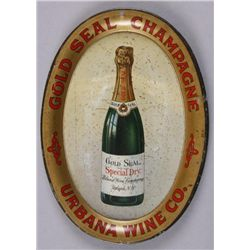 "Original Tin Advertiser - Gold Seal ChampagneChange Tray, 6"" Oval. In overall good  condition, sligh"