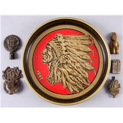 Indian Head Beer & Ale TrayPlus bottle opener, lighter, and other Misc.  items