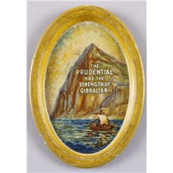 "Original Tin Advertising Change Tray - Prudential3 1/2"" across with ""The Prudential Has the  Strengt"