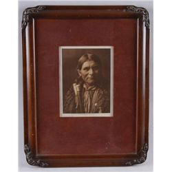 Antique Photograph of a Santa Clara IndianBy Edward L Curtis, dated 1905, velour matted  in a very n