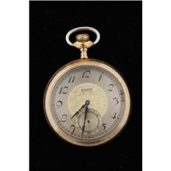 1914 Elgin 14K Gold Filled Pocket Watch16s, 15 jeweled, SN: 18356988, in running  condition.