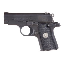 Colt Mdl Mustang Cal .380acp SN:MU24544Very desirable single action semi auto pistol  chambered in .