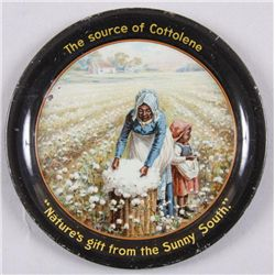 """Original Tin Advertising Tray - Cottolene""""The source of Cottolene"""", """"Nature's gift  from the Sunny S"""