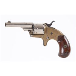 Colt Mdl Open Top Pocket Cal .22RF SN:64963Open top 7 shot revolver chambered in .22  Rimfire. Nicke