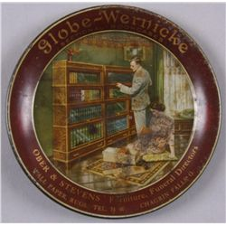 Original Tin Advertising Tray - Globe-WernickeGlobe-Wernicke Sectional Bookcases, Ober &  Stevens, 4