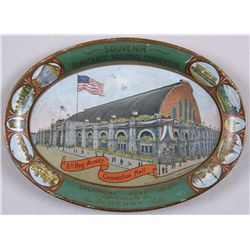 Original Tin Advertising Tray - 5th Reg Armory Souvenir - Democratic National Convention,  Baltimore