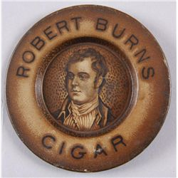 Original Tin Advertiser - Robert Burns CigarBrown on sepia tone, slight fading, good  condition, cir