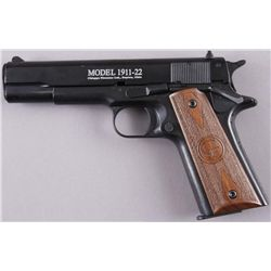 Chiappa Firearms Mdl 1911-22 Cal .22LR SN:AD27324Full size 1911 style semi auto pistol  chambered in
