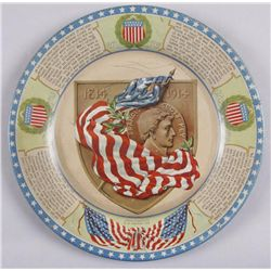 Original Tin Advertising Tray - Francis Scott KeyFrancis Scott Key 1814-1914, in overall good  condi