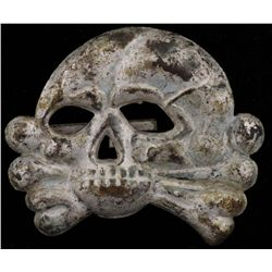 Original Death Head Insigniafrom WWII, in fair to good condition.