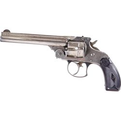 Smith & Wesson 1st Model Cal .38 SN:56601Early double action revolver chambered in  .38. Nickel fini