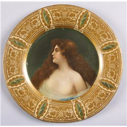 "Original Tin Advertising Tray  - Bohemian LadyDepicting a Bohemian lady, 10"" round.  Condition is go"