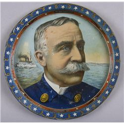 Original Tin Advertising Tray - Admiral SampsonMinor wear and losses, slight imperfections,  good to