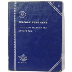 Lincoln Head Penny Collection In Vintage Folder