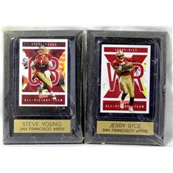 Jerry Rice & Steve Young Collectible Plaques