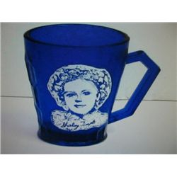 Shirley Temple Colbalt Blue Antique Mug