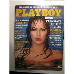 May 1985 Playboy; Karen Velez