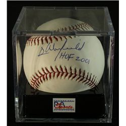 "Dave Winfield Signed OML Baseball: Inscribed ""HOF 2001"": PSA Graded 9 (PSA COA)"